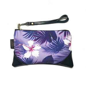 Mini Hibiscus & Kalo Zipper Clutch