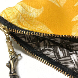 Large Gold 'Ulu (Breadfruit) Zipper Clutch