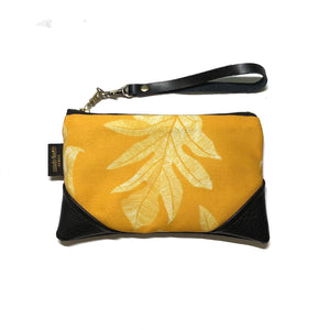 Mini Gold 'Ulu (Breadfruit) Zipper Clutch
