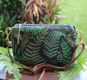 Green Hāpu'u Hawaiian Fern Large Crossbody