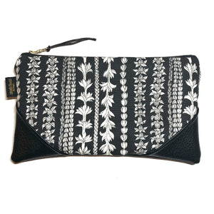 Large Blackout Lei Aloha Zipper Clutch