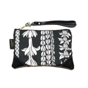 Mini Blackout Large Scale Lei Aloha Zipper Clutch
