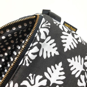 Black Hawaiian Quilt Hip Pack