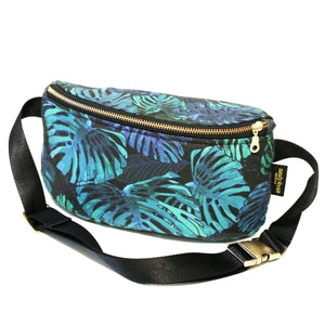 Midnight Monstera Hip Pack