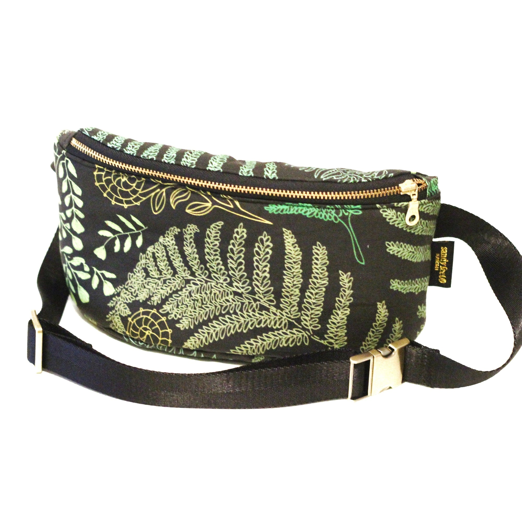Green Hāpu'u Fern Hip Pack