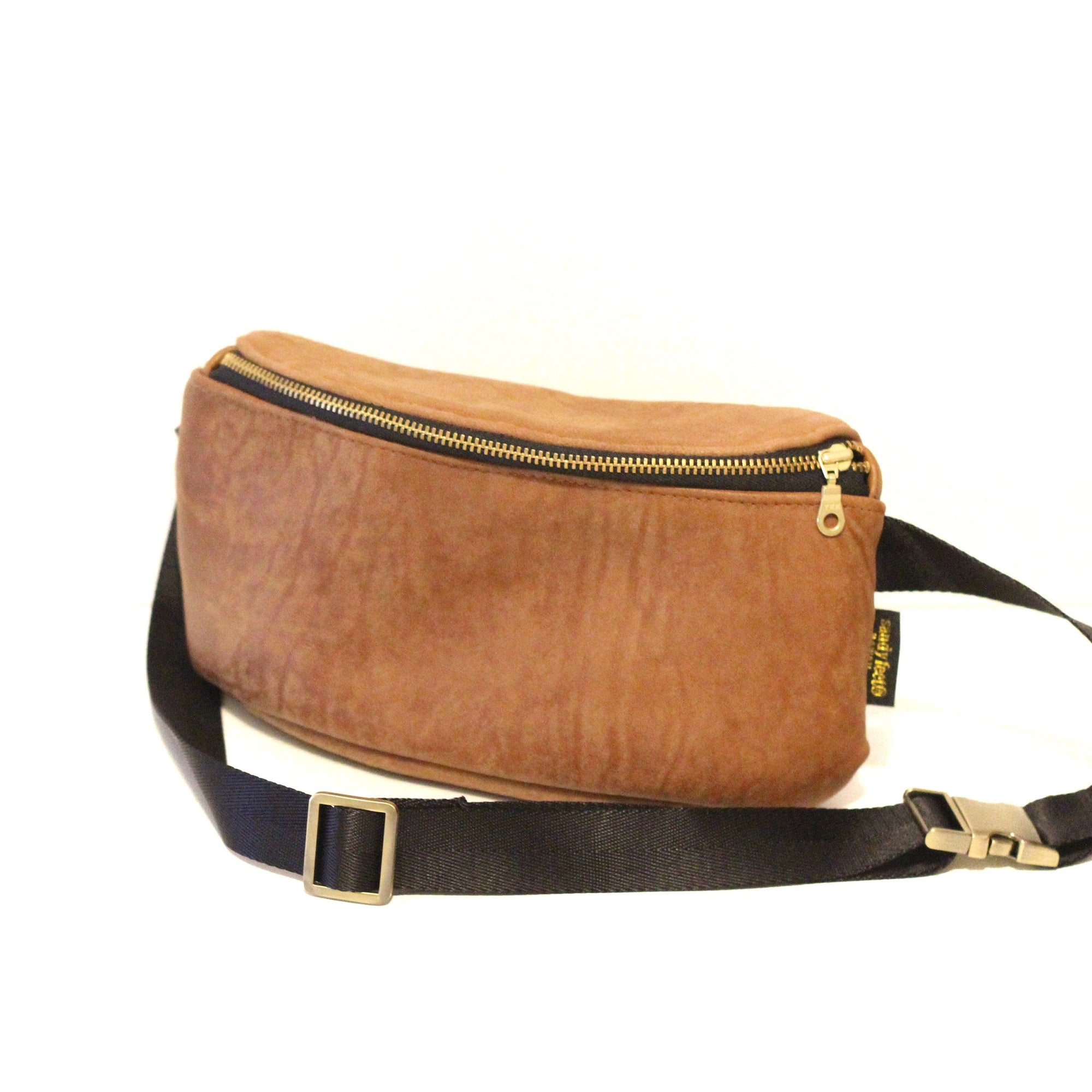 Brown Genuine Leather Hip Pack