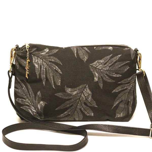 Black 'Ulu (Breadfruit) Large Crossbody Inside Pockets Only