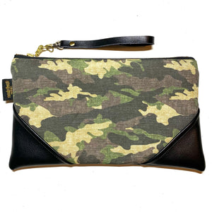 Large Camo Zipper Clutch