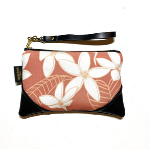 Mini Mauve Pua Melia Zipper Clutch