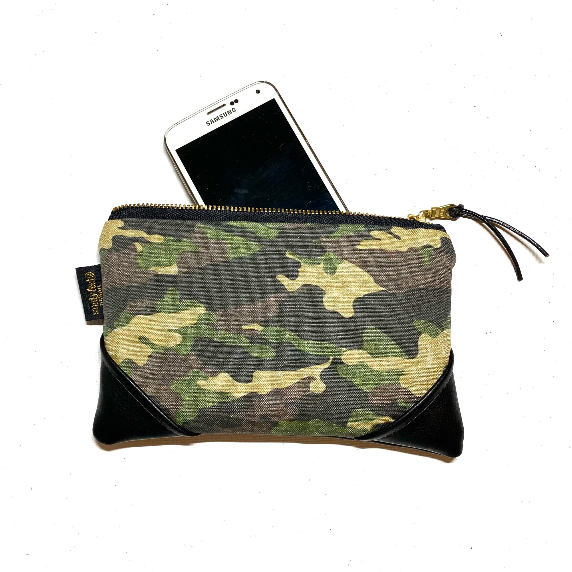 Mini Camo Zipper Clutch