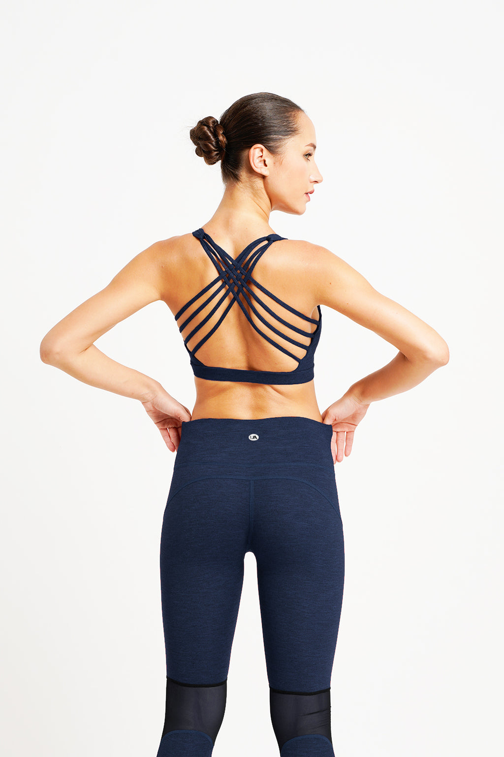 Hamsa 8 Strings Yoga Bra Navy