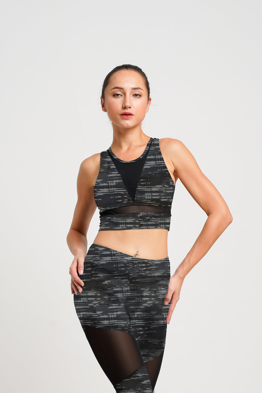 Citta Croptop Space Grey/ Black
