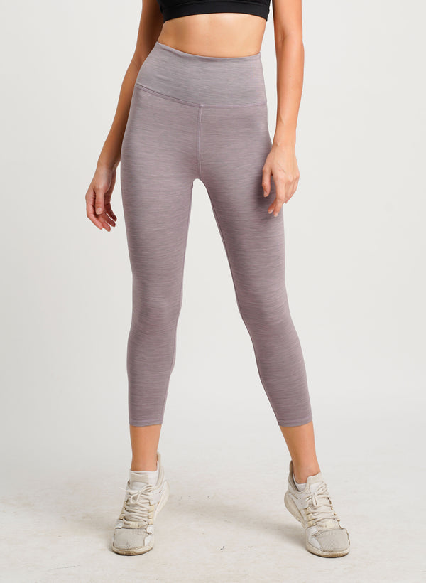 Belle Seamless 3/4 Tights Purple Stripe