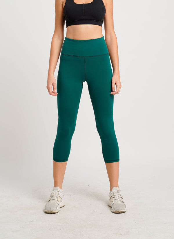 Belle Seamless 3/4 Tights Dark Green