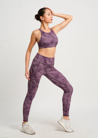 Charcoal Supportive Sports Bra Purple