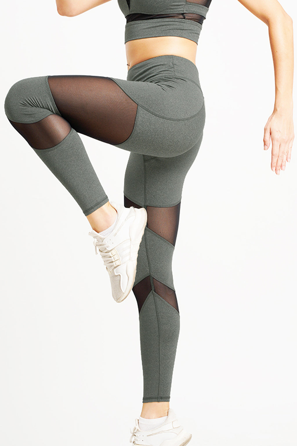 Citta High Waist Full Length Tight Grey Sage