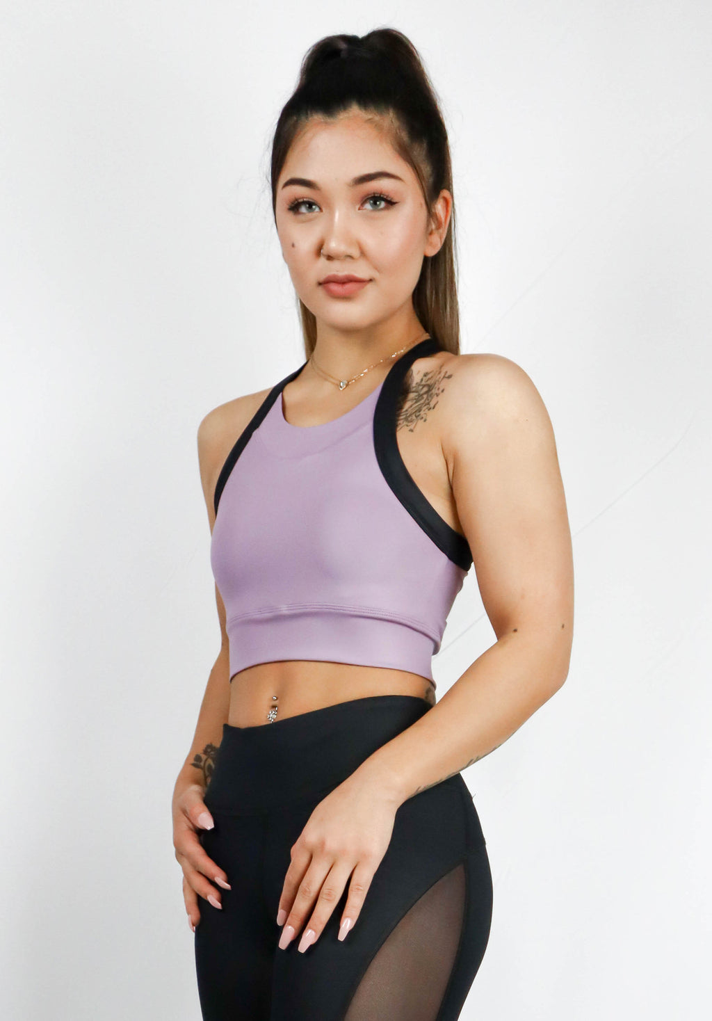 Guru Croptop Leather Look Violet