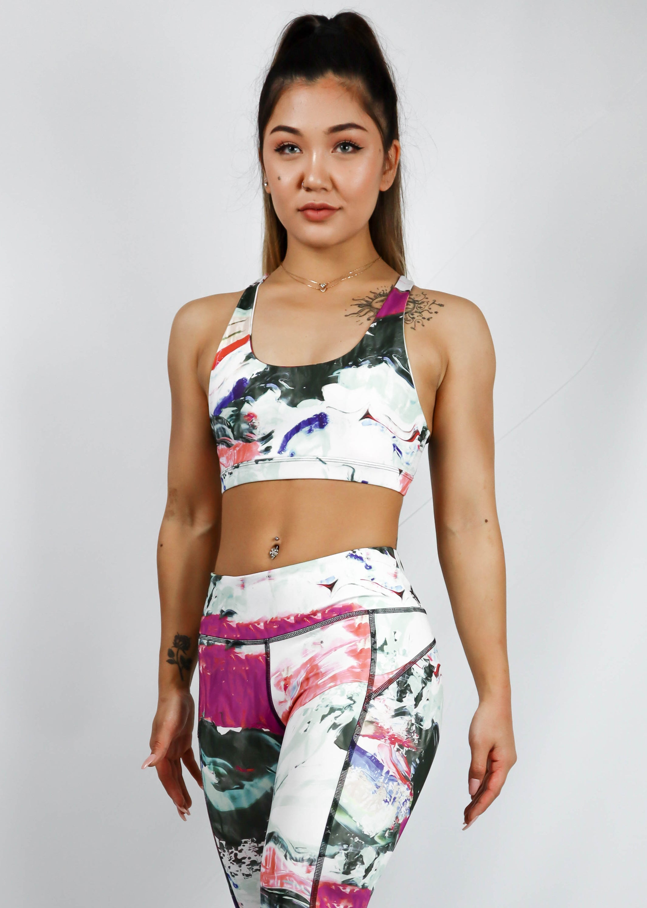 Turiya Sports Bra Abstract