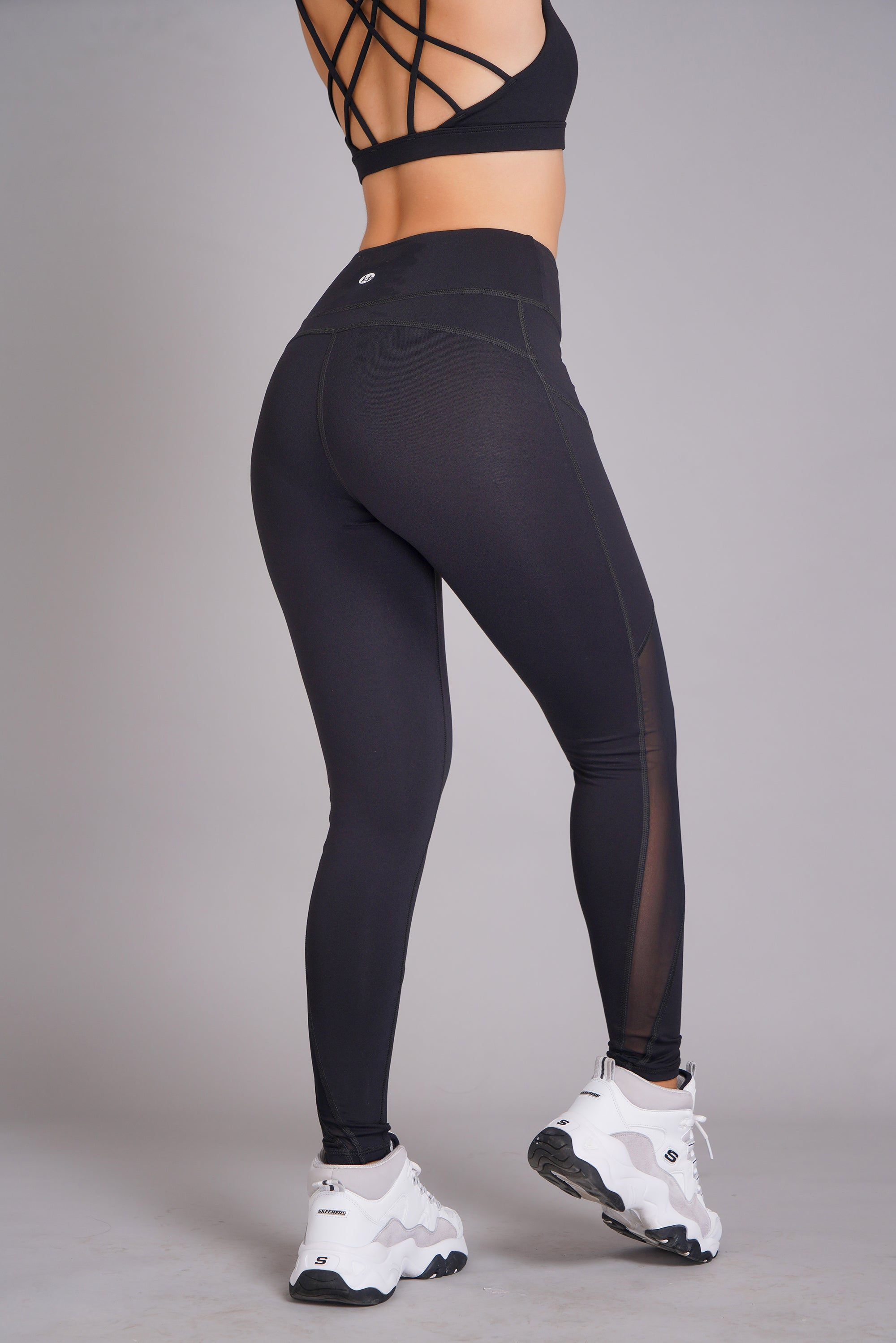 Asana High Waist Side Pockets 7/8 Tight Black