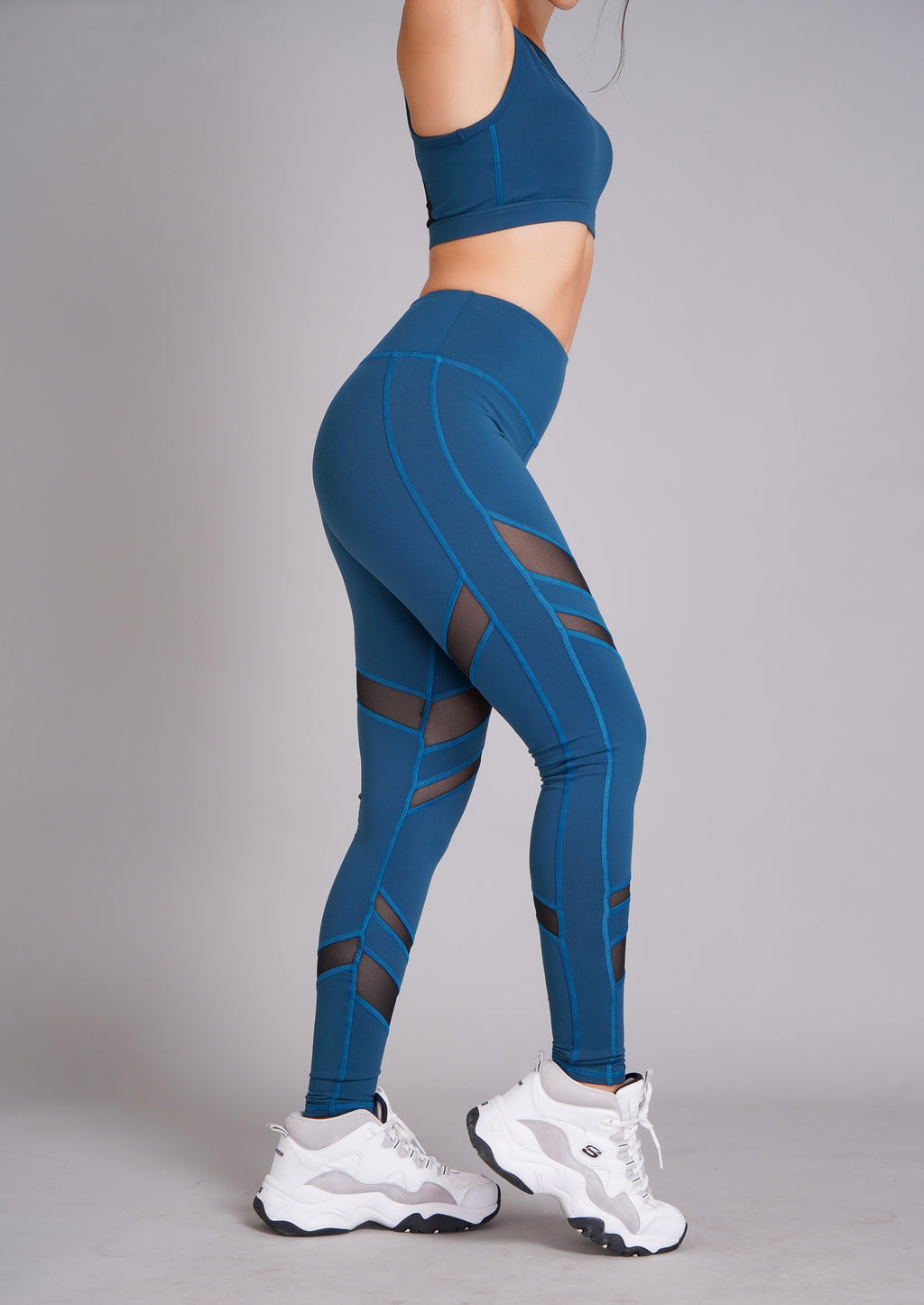 Pyramid High Waist Full Length Tight Blue