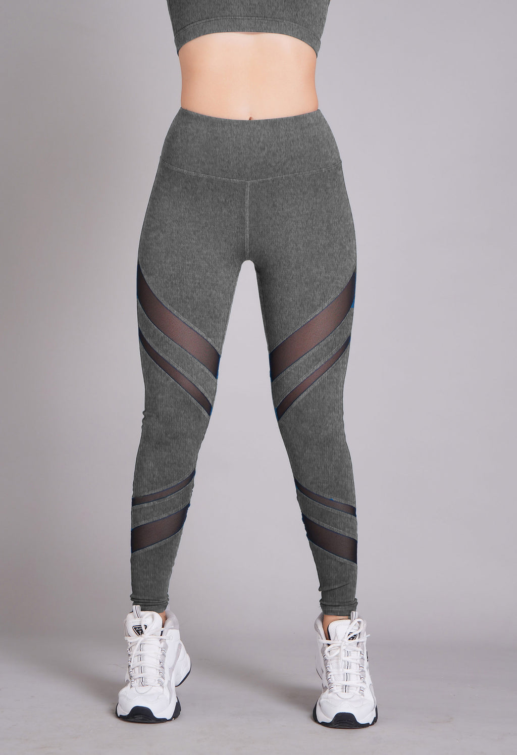 Pyramid High Waist Full Length Tight Grey