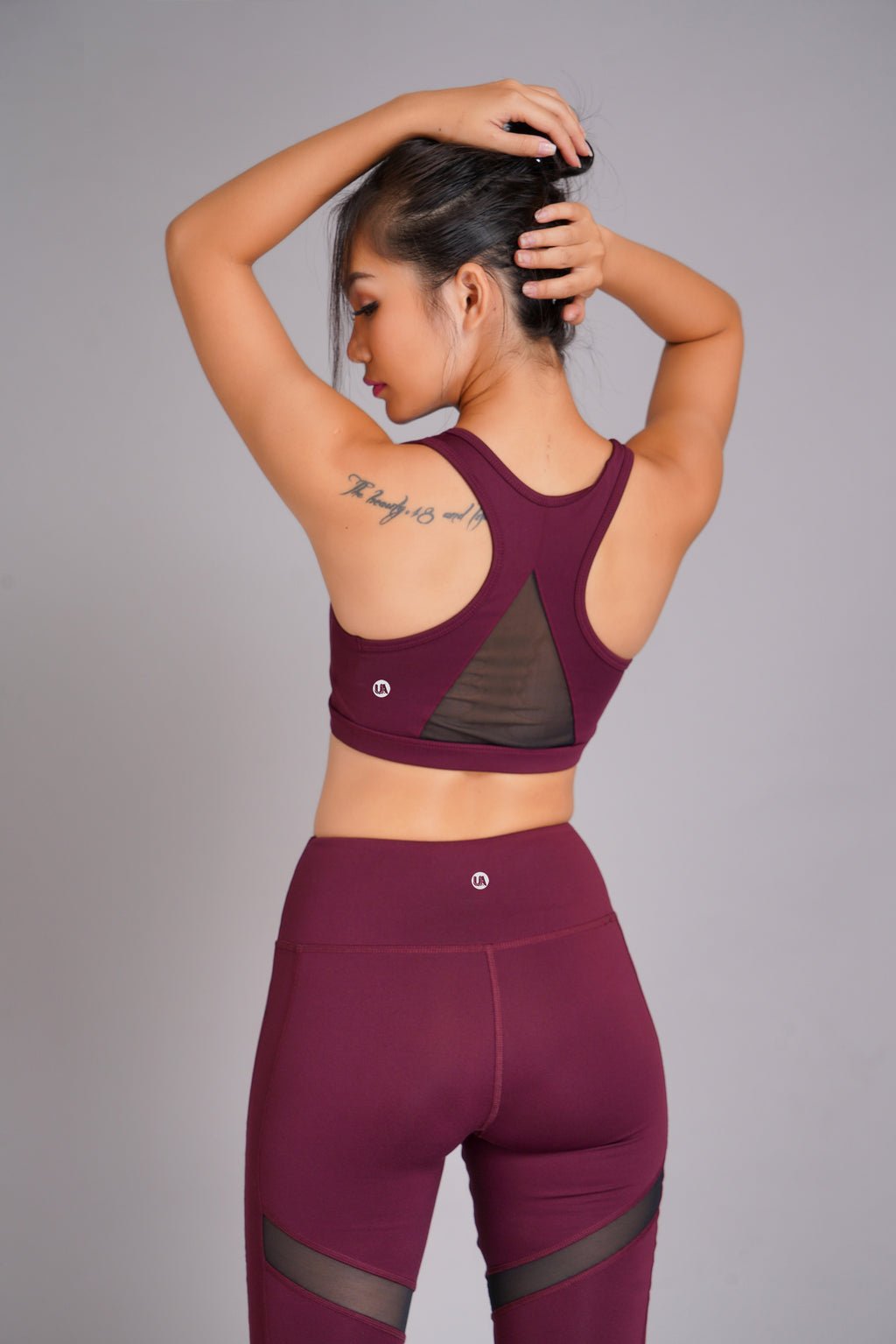 Pyramid Sports Bra Burgundy