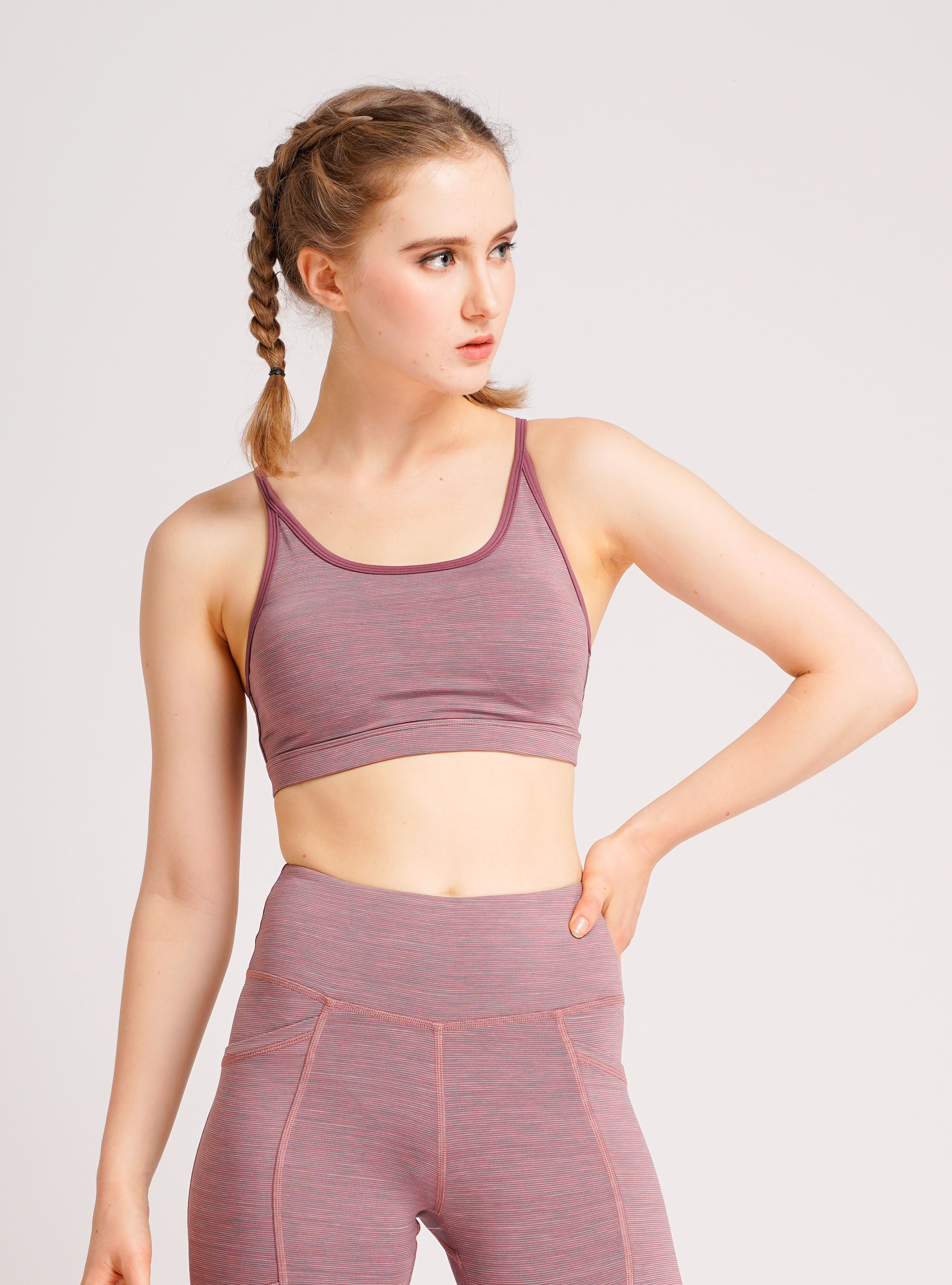 Girl Power Sports Bra Pinky Stripe