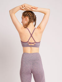 Girl Power Sports Bra Violet Stripe