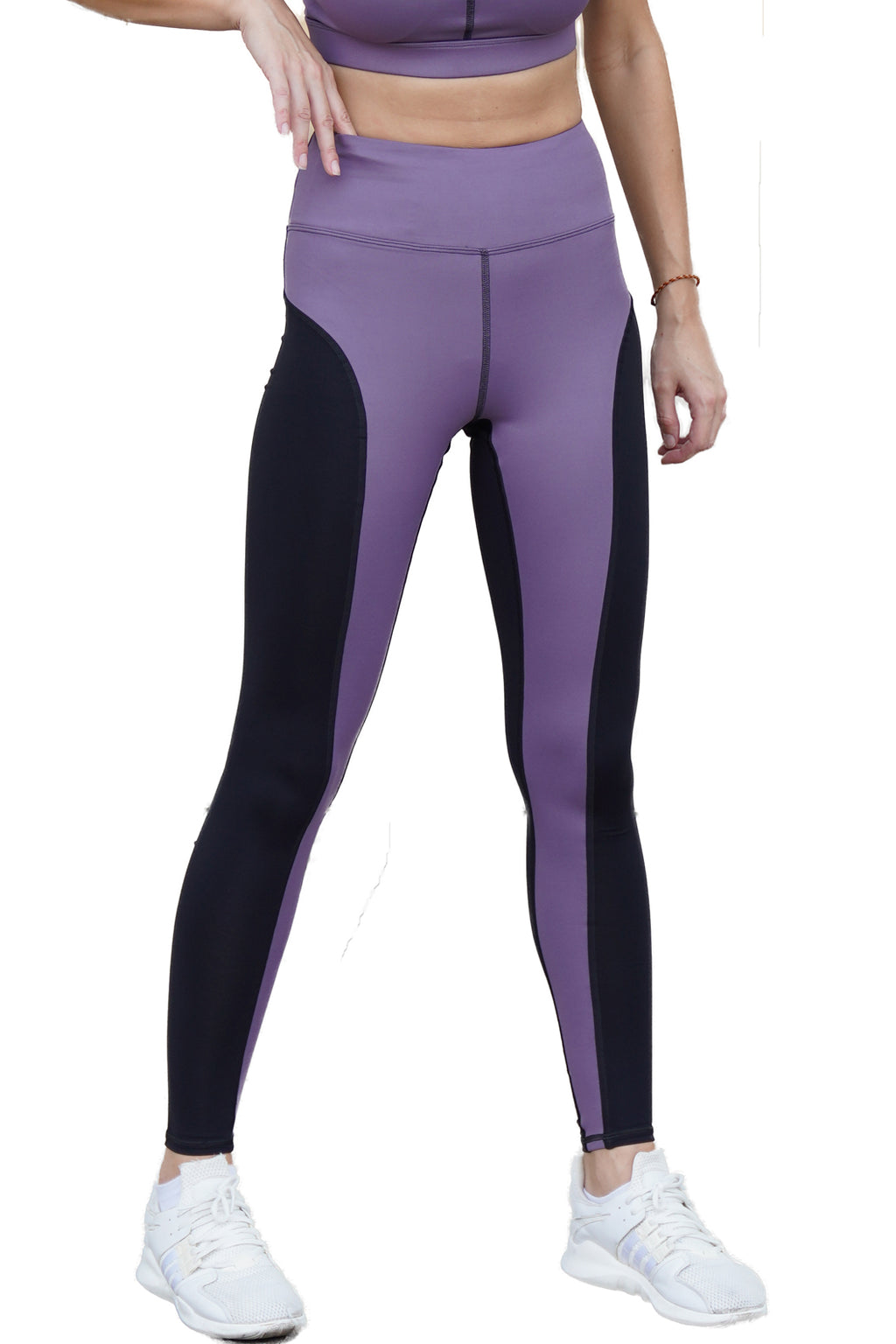 Guna High Waist Full Length Tight Leather Look Purple