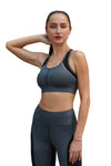 Guna Sports Bra Leather Look Dark Olive