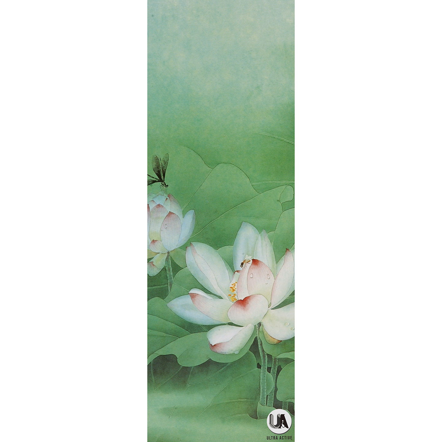 Green Lotus Practising Yoga Mat 3mm Microfiber