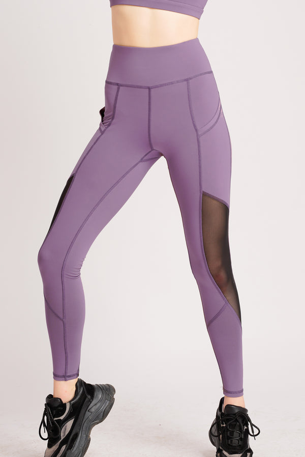 Asana High Waist Side Pockets 7/8 Tight Violet