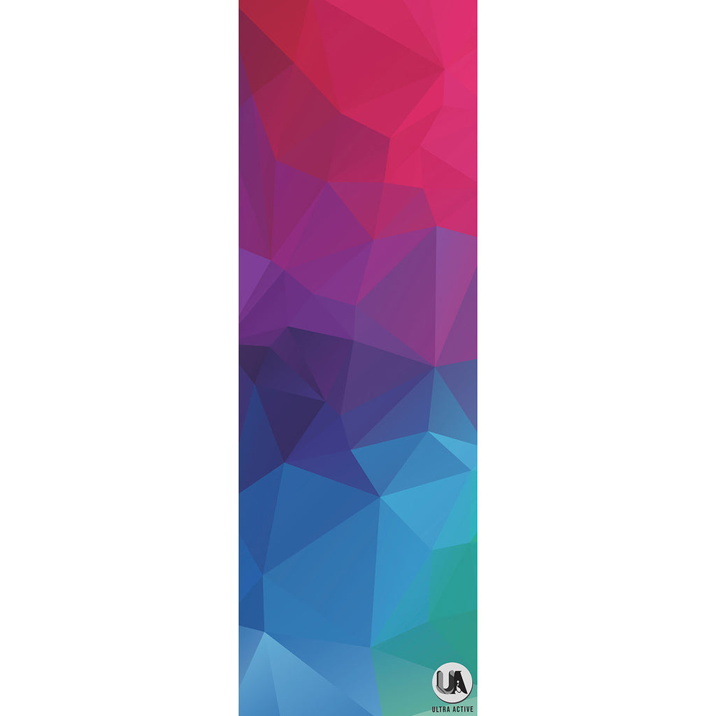 Abstract Practising Yoga Mat 3mm Microfiber