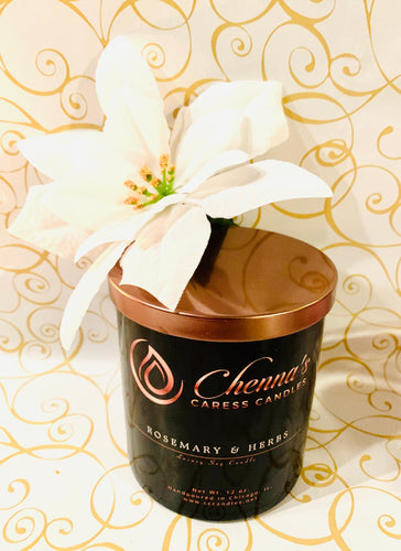Rosemary & Herbs Luxury Soy Candle