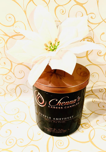Purple Amethyst Luxury Soy Candle