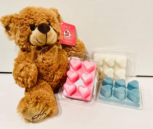 Teddy Bear & Heart Clamshell Bundle