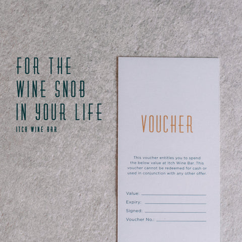 Itch Wine Bar Voucher $20.00