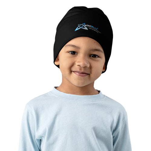 XeroBlu All-Over Print Kids Beanie - Black