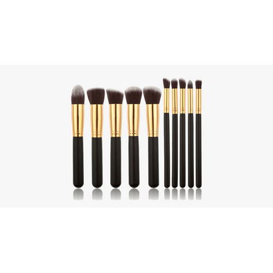 10 Piece Kabuki Brush Set (Shipped from USA)