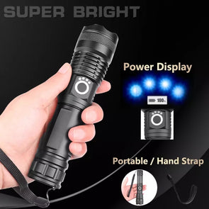 RUGGED LIGHT PRO-powerful flashlight 5 Modes usb Zoom led torch