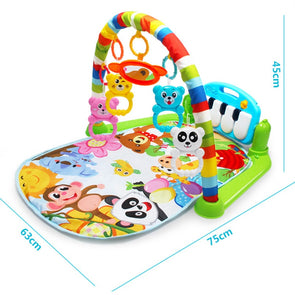 3 in 1 Baby Play Mat Rug Toys Kid Crawling Music Play