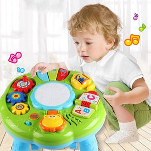 Baby Music Learning Table Multifunctional Game Table with Colorful Light