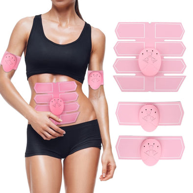 Female pink abdominal muscle trainer sticker