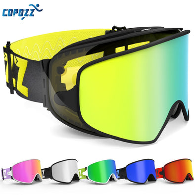 COPOZZ Ski Goggles 2 in 1 with Magnetic Dual