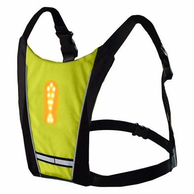 Reflective Safety Vest Cycling Waterproof 48 LED Turn Signal Vest Outdoor Runing biking