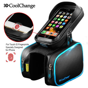 Bicycle Frame Front Head Top Tube Waterproof Bike Bag&Double IPouch Cyclin Cell Phone ike Accessories