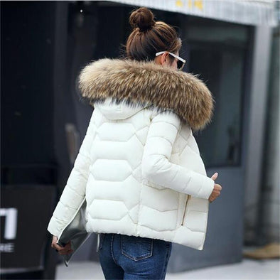 2019 New Winter Jacket Women Faux Fur Hooded Parka