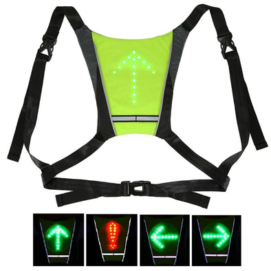 Cycling Bicycle LED Wireless Safety Turn Signal Light Vest for Riding Night Guiding B2Cshop