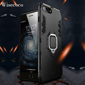 iphone case 8 7 Plus 8 +  Car Ring Holder Stand Hard Back Cover For iphone 8plus 7plus