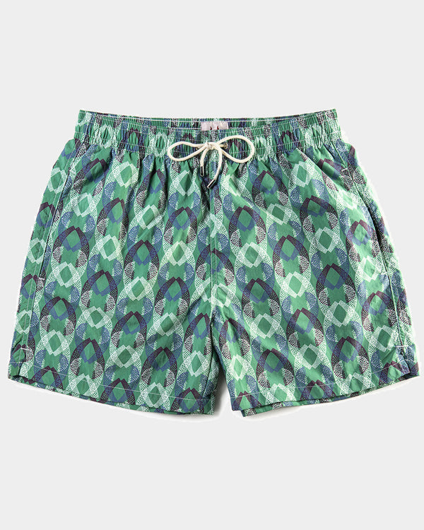 Men's Swimming Trunks - Lace Tail Aqua